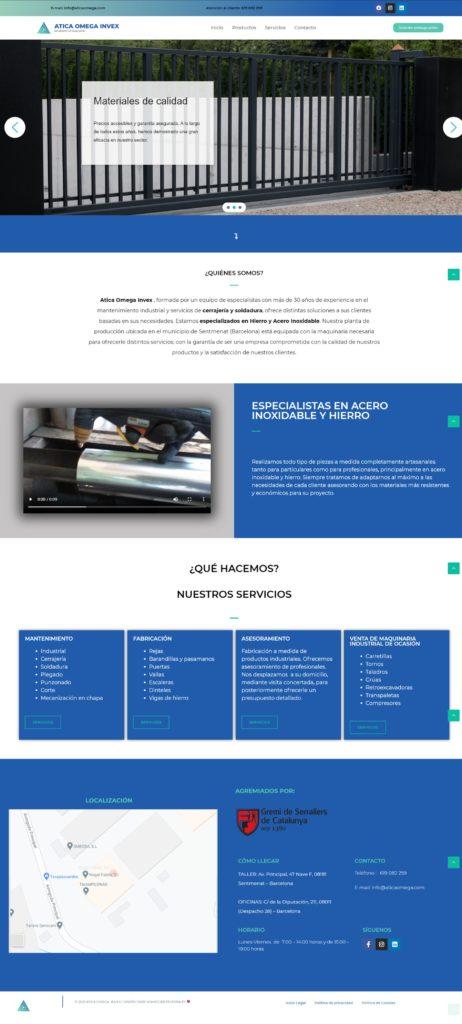 AticaOmega Proyecto web realizados por Ciberesfera empresa de diseño web